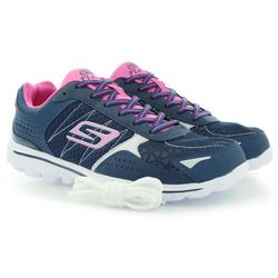 BUTY SPORTOWE SKECHERS GO WALK 2 FLASH NAVY PINK