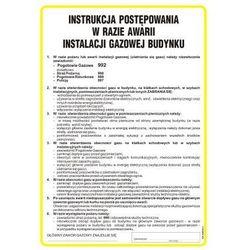 Instrukcja BHP postępowania w razie awarii instalacji gazowej budynku