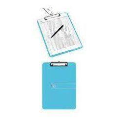 Deska z przyciskiem A4 niebieski transparentny