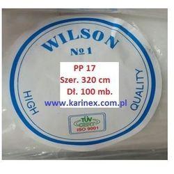 Agrowłóknina wiosenna PP 17 g/m2 biała 3,2 x 100 mb. Rolka złozona na 160 cm i wadze 6,51 kg.