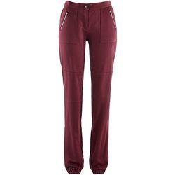 Spodnie bojówki bonprix bordowy
