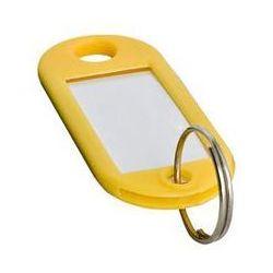 Zawieszki do kluczy żółty 100 szt