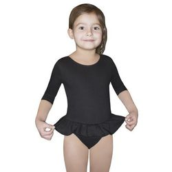 BODYSUIT GIRLS ¾ SLEEVE LEOTARD WITH SHORT FRILL