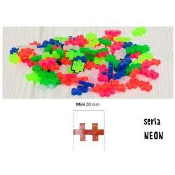 Klocki mini neonowe - 300 elementów