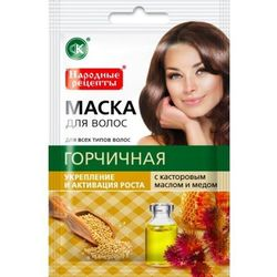 Fitocosmetic - Gorczycowa maska z olejkiem rycynowym - Wzmocnienie i porost - 30 ml
