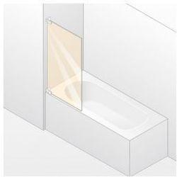 Parawan nawannowy 1- częściowy Huppe Studio Paris prawy , chrom mat, szkło przeźroczyste PR0419.E05.321