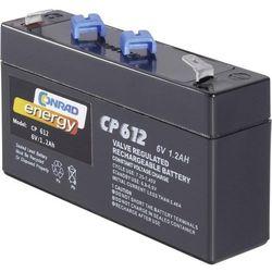 Akumulator żelowy AGM Conrad energy CE6V/1,3Ah, 6 V, 1.2 Ah