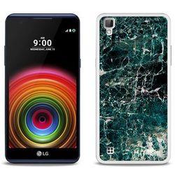 Fantastic Case - LG X Power - etui na telefon Fantastic Case - zielony marmur