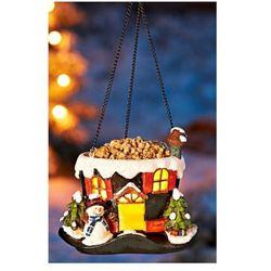 Karmnik dla ptaków świąteczny cylinder LED