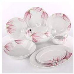 Zestaw obiadowy dla 12 osób porcelana Ćmielów Yvonne Magnolia G143
