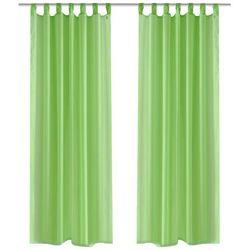 vidaXL Zasłona na szelkach, prześwitująca, zielona, 140 x 225 cm, 2 sztuki Darmowa wysyłka i zwroty