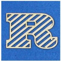 R - tekturka literka ażurowa prosta (3 szt)