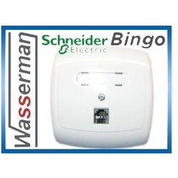 Gniazdo telefoniczne poj. RJ11 GTP-14B 01 Schneider Bingo