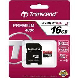 Transcend microSDHC 16GB Premium 400x UHS-I class 10