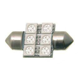 Żarówka samochodowa LED osiowa czerwona