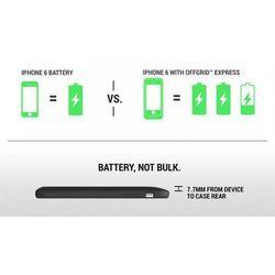 Incipio offGRID Express Case - Etui z baterią 3000mAh do iPhone 6/6s MFi (czarny)