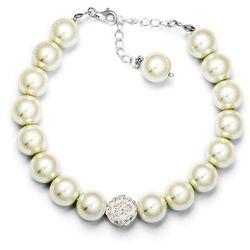 Komplet Srebrny 925 Białe Perły GRAWER PER08