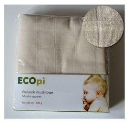 ECOpi Pieluszki tetrowe (muślinowe) z bawełny niebielonej 100 g. 1szt.