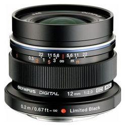 Obiektyw OLYMPUS M.Zuiko Digital ED 12mm 1:2.0 Czarny