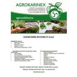 Agrowółknina zimowa PP 30 g/m2 biała 1,6 x 100 mb. Rolka o wadze 5,4 kg.