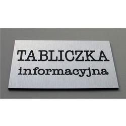 Tabliczki informacyjne na drzwi z aluminium wielkość 18x12 cm
