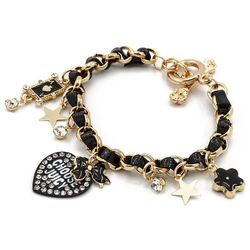 BRANSOLETKA BLACK CHARMS JUICY - BLACK