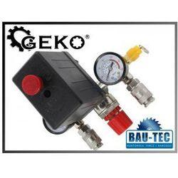 Reduktor/wyłącznik ciśnieniowy do kompresora (presostat) z manometrami