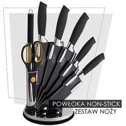 8 Elem. Zestaw Noży z Kolorową Powłoką Non-Stick ze Stojakiem - RL-BLK8-W