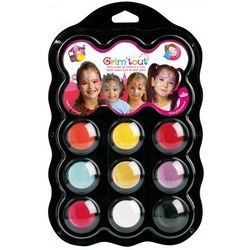 Zestaw 9 farb do malowania twarzy Grim' tout - Princesses