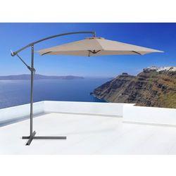 Parasol ogrodowy na wysięgniku - stojak metalowy – ø 285 cm - METALL mokka
