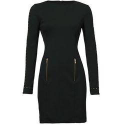 Sukienka z długim rękawem z ćwiekami bonprix czarny