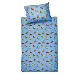 Jahu Pościel bawełniana do łóżeczka Samochodziki, 90 x 130 cm, 40 x 60 cm