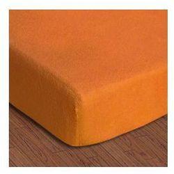 Prześcieradło frotte z gumką 110-120x200 kolor pomarańcz