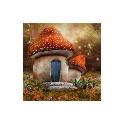 Foto naklejka samoprzylepna 100 x 100 cm - Baśniowy domek z muchomora