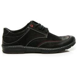 Skórzane męskie czarne buty