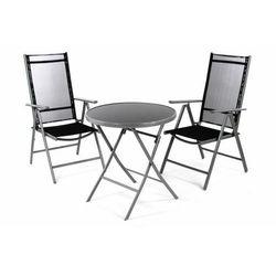 Zestaw mebli ogrodowych - krzesła i stół czarny