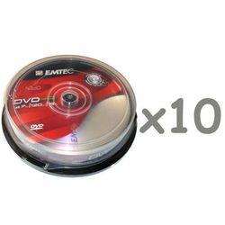 DVD-R Emtec 4.7GB x16 cake-box 10x10szt.