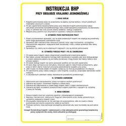 Instrukcja BHP przy obsłudze krajarki jednonożnej