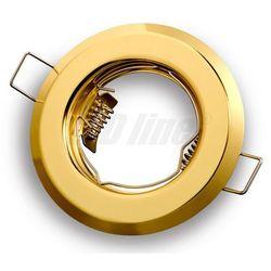 Oprawa halogenowa sufitowa okrągła stała, tłoczona - złota