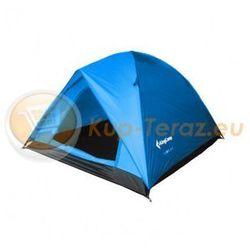 Namiot turystyczny 3 osobowy lekki z tropikiem King Camp FAMILY 2 plus 1 niebieski