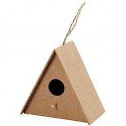 Domek dla ptaków z papieru mache duży - wzór II