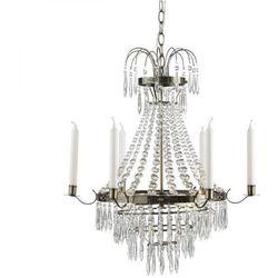 Żyrandol LAMPA wisząca KRAGEHOLM 104417 Markslojd kryształowa OPRAWA świecznikowy ZWIS IP20 patyna przezroczysty