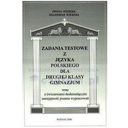 Zadania testowe z języka polskiego dla drugiej klasy gimnazjum (opr. miękka)