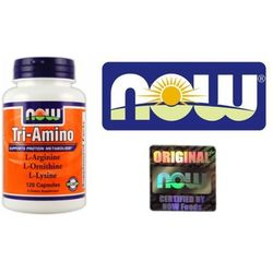 Now Foods Tri-Amino (L-Arginina, L-Ornityna, L-Lizyna) 120 kaps.