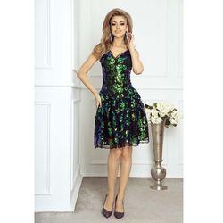78fb3c99 Elegancka Wieczorowa Sukienka Koronkowa z Cekinami