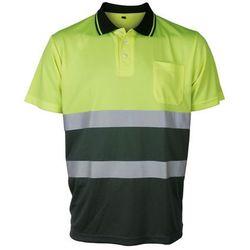 Koszulka Polo ostrzegawcza Contrast Vizwell VWPS13YDG ( żółto-zielona)