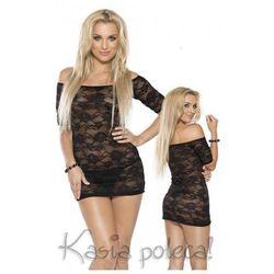 Roxana Mini Dress & String Model: 6563 Black M Sukienka i stringi czarne M