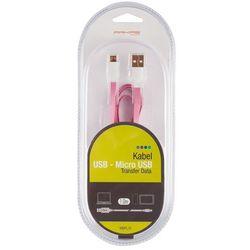 Kabel ARKAS USB Micro MBFL 10 Różowy