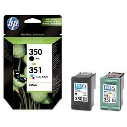 Zestaw tuszy HP 350 i 351 / SD412EE Czarny + Kolor do drukarek (Oryginalny)