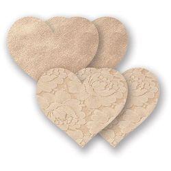 Nakładki na sutki bieliźniane - Nippies Basic Creme Heart